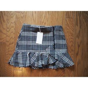 Zara zip mini skirt